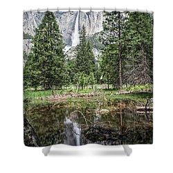 Yosemite View 16 Shower Curtain by Ryan Weddle