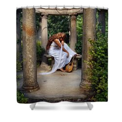 Young Woman As A Classical Woman Of Ancient Egypt Rome Or Greece Shower Curtain by Jill Battaglia