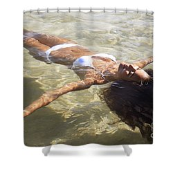 Young Woman In The Water Shower Curtain by Brandon Tabiolo - Printscapes