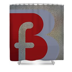 Your Name - B F Or F B Monogram Shower Curtain