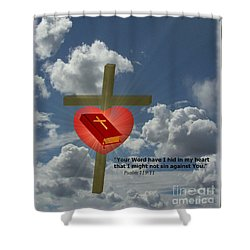 Your Word Have I Hid In My Heart Shower Curtain