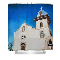 Ysleta Mission Shower Curtain by Melinda Etzold