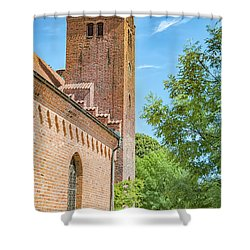 Shower Curtain featuring the photograph Ystad Monastery In Sweden by Antony McAulay