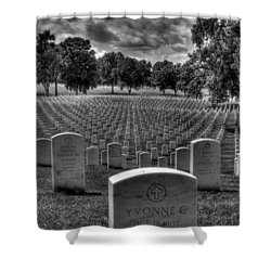 Yvonne Shower Curtain by Jane Linders