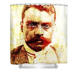 Zapata Shower Curtain by J- J- Espinoza