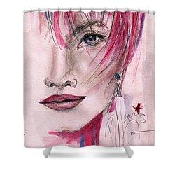 Zelda Shower Curtain by P J Lewis