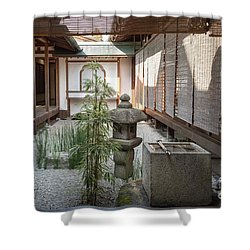 Zen Garden, Kyoto Japan Shower Curtain