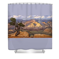 Zoroaster Temple From Yaki Point Shower Curtain by Paul Krapf