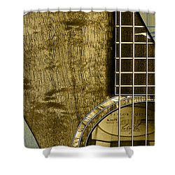 Acoustic Guitar Collection Shower Curtain