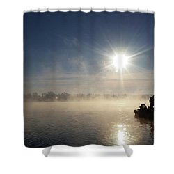 10 Below Zero Fishing Shower Curtain by Brook Burling