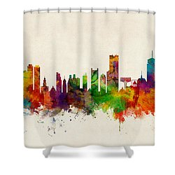 Boston Massachusetts Skyline Shower Curtain