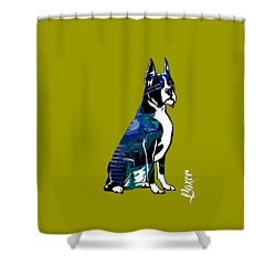 Boxer Collection Shower Curtain by Marvin Blaine