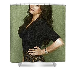 Celebrity Sofia Vergara  Shower Curtain by Best Actors