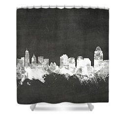 Cincinnati Ohio Skyline Shower Curtain