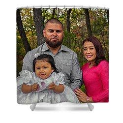 Cruz Baptism Shower Curtain