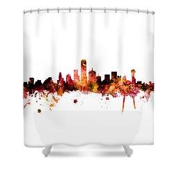 Dallas Texas Skyline Shower Curtain