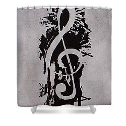 Music Note Splash Shower Curtain By El Alexander