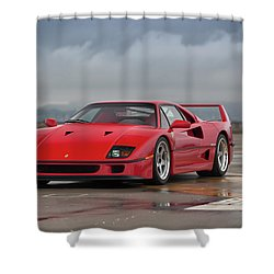 Shower Curtain featuring the photograph #ferrari #f40 #print by ItzKirb Photography