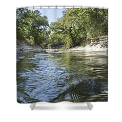 10 Mile Creek Shower Curtain by Ricky Dean