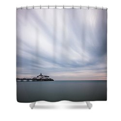 10 Minute Exposure Of Eastbourne Pier Shower Curtain