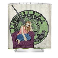 10 Months Shower Curtain by Megan Dirsa-DuBois