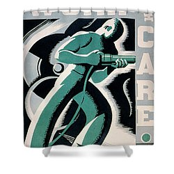 New Deal: Wpa Poster Shower Curtain by Granger