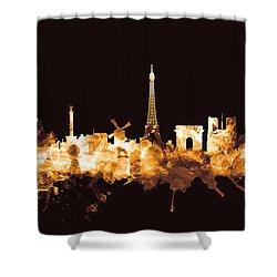 Paris France Skyline Shower Curtain
