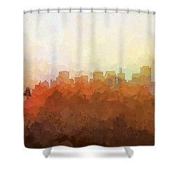 Shower Curtain featuring the digital art San Francisco California Skyline by Marlene Watson
