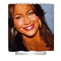 Sofia Vergara Art Print Shower Curtain by Best Actors