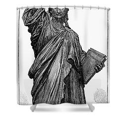 Statue Of Liberty Shower Curtain by Granger