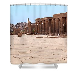 Shower Curtain featuring the photograph Temple Of Isis by Silvia Bruno
