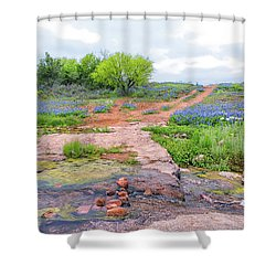 Texas Bluebonnets 9 Shower Curtain