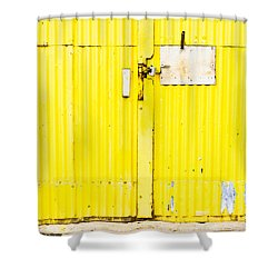 Yellow Metal  Shower Curtain