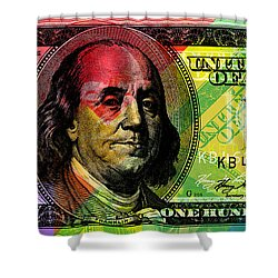 Benjamin Franklin - Full Size $100 Bank Note Shower Curtain