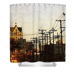 100 East Wisconsin Shower Curtain by David Blank