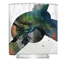 100 Hour Painting Shower Curtain by Antonio Ortiz