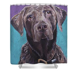 100 Lbs. Of Chocolate Love Shower Curtain by Pat Saunders-White