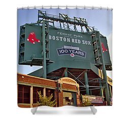 100 Years At Fenway Shower Curtain by Joann Vitali