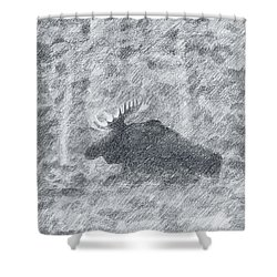 1000 Pounds Of Bull Shower Curtain