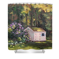 101 Blooms Shower Curtain by Trina Teele