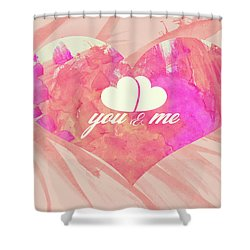 10183 You And Me Shower Curtain