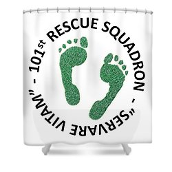 101st Rescue Squadron Shower Curtain