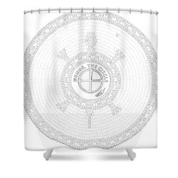 102007- Honor_the_circle Shower Curtain