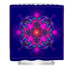 1028 -  A Mandala Purple And Pink 2017 Shower Curtain