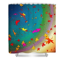Shower Curtain featuring the digital art 103 by Timothy Bulone