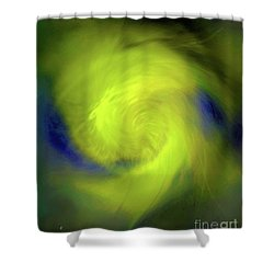 Shower Curtain featuring the digital art 1030-2017 by John Krakora