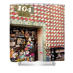 104 Brooklyn New York Door   Shower Curtain by Funkpix Photo Hunter