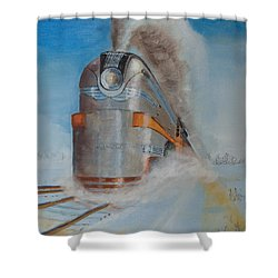 104 Mph In The Snow Shower Curtain