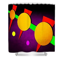 Shower Curtain featuring the digital art 104 by Timothy Bulone