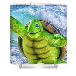 10731 Myrtle The Turtle Shower Curtain